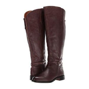 "Franco Sarto Brown ""haylie"" tall boot buckle NEW"